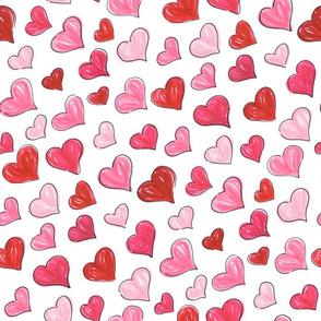 Graphic Marker Hearts- Random Custom 45º