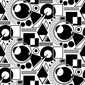 Abstract Geometric - Black and White