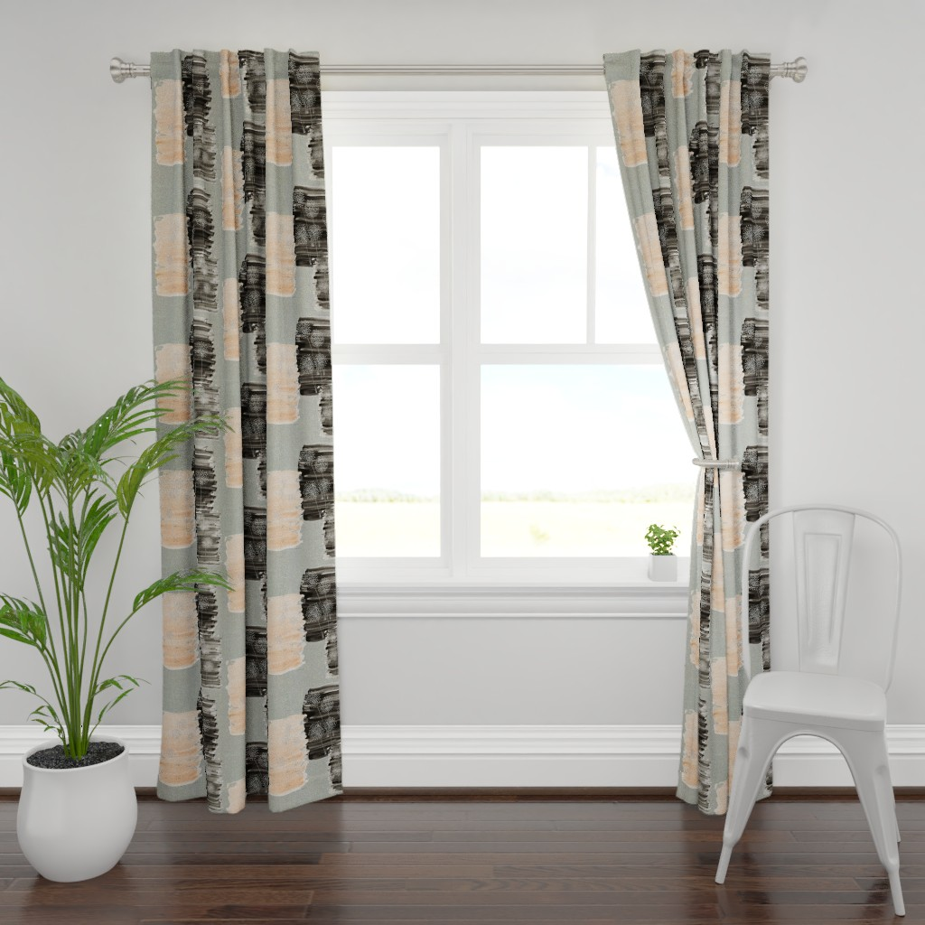 Plymouth Curtain Panel featuring WISHES by hunnellekari
