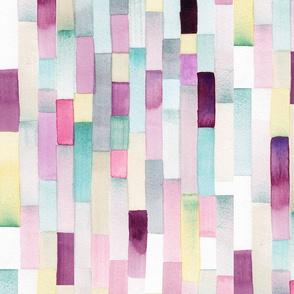 Modern Watercolor Stripe – Lilac