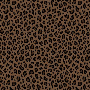★ LEOPARD PRINT in BROWN ★ Tiny Scale / Collection : Leopard spots – Punk Rock Animal Print