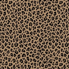 ★ LEOPARD PRINT in ICED COFFEE BROWN ★ Tiny Scale / Collection : Leopard spots – Punk Rock Animal Print