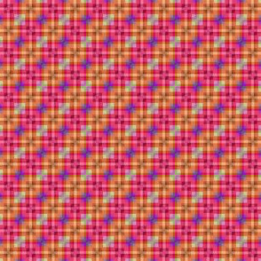 Mini Prints: Layered Squares Plaid