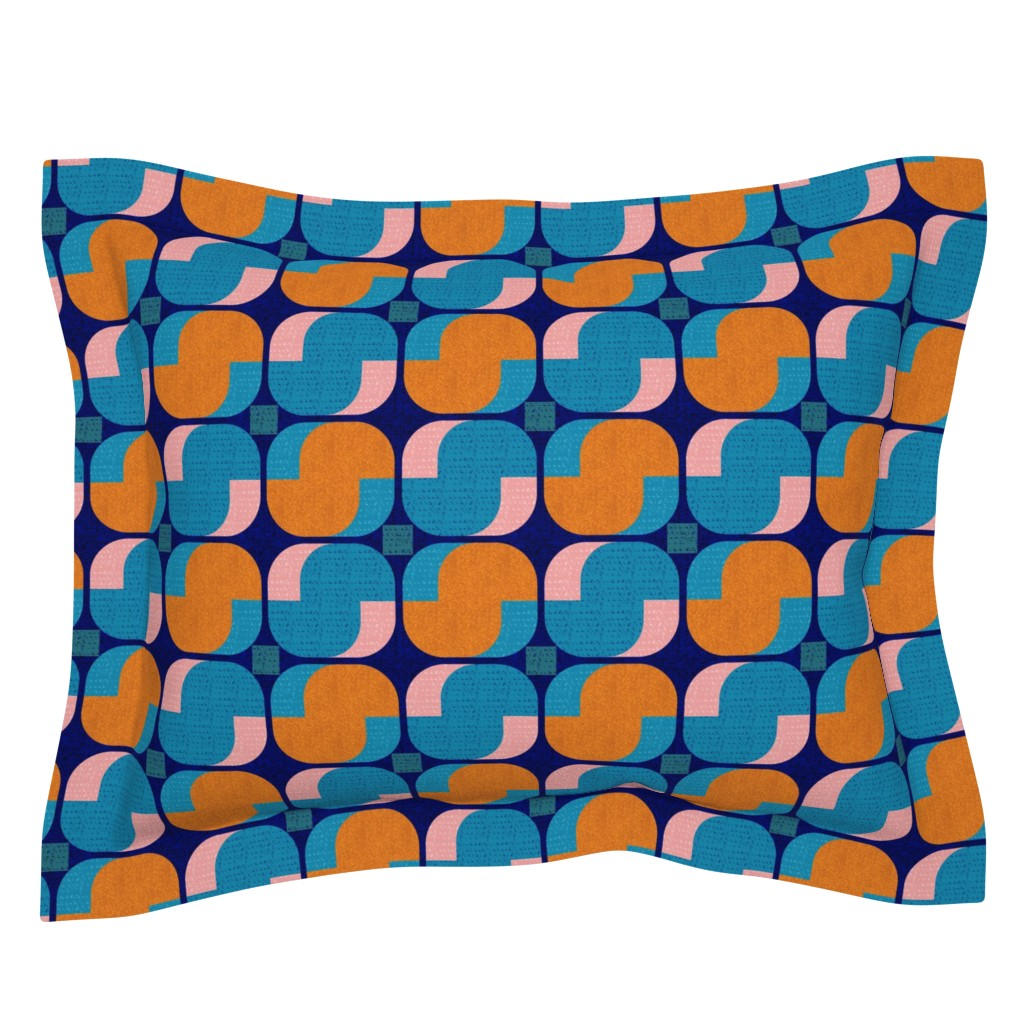 Sebright Pillow Sham featuring Bold minimalist seventies by ottomanbrim