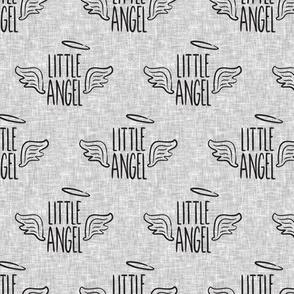 Little Angel - grey on grey - LAD19