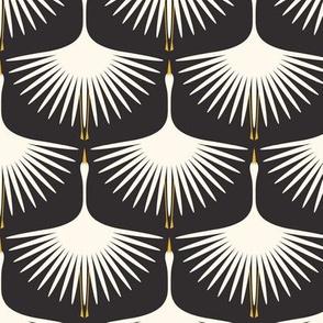 "Art Deco Swans 4"" WingSpan"