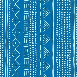 Minimal mudcloth bohemian mayan abstract indian summer love aztec design blue marine vertical rotated