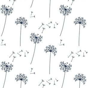 dandelions {1} navy and white