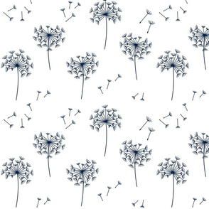 dandelions {2} for mom navy and white