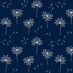 dandelions {2} for mom navy and white reversed