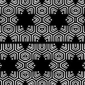Star Black and White Stripes