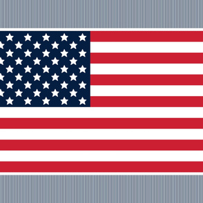flag 1 yard 42x36 red white and navy blue || independence day USA american fourth of july 4th