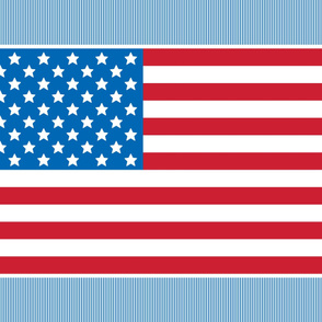 flag 1 yard 42x36 red white and royal blue || independence day USA american fourth of july 4th
