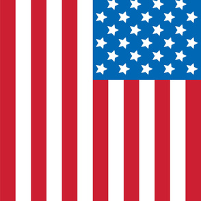 flag 2 yard 42x72 red white and royal blue || independence day USA american fourth of july 4th