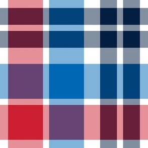 plaid lg red white and blue || independence day USA american fourth of july 4th
