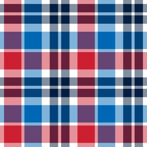 plaid med red white and blue || independence day USA american fourth of july 4th