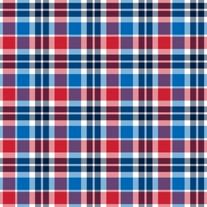 plaid sm red white and blue || independence day USA american fourth of july 4th