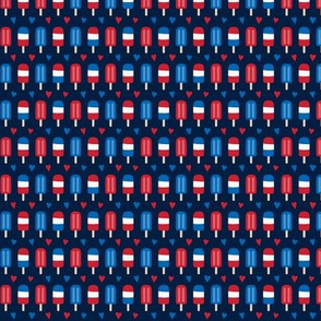 popsicles XSM red white and royal on navy blue || independence day USA american fourth of july 4th