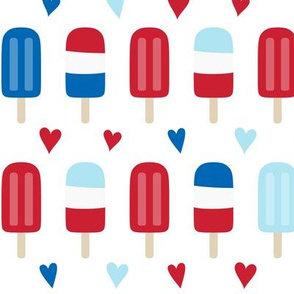 popsicles med red and royal blue on white || independence day USA american fourth of july 4th