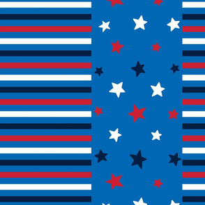 stars and stripes lg red white navy on royal blue || independence day USA american fourth of july 4th