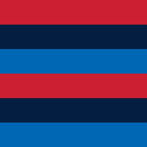 rugby stripes red navy and royal blue || independence day USA american fourth of july 4th