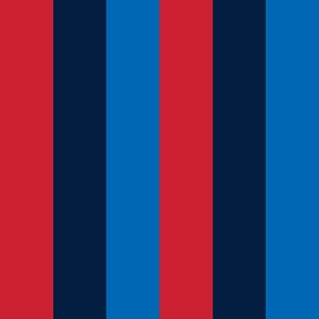 rugby stripes red navy and royal blue vertical || independence day USA american fourth of july 4th