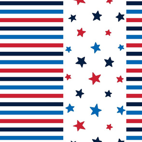 stars and stripes lg red white royal and navy blue || independence day USA american fourth of july 4th