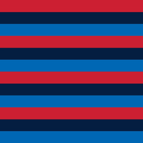 rugby stripes sm red navy and royal blue || independence day USA american fourth of july 4th
