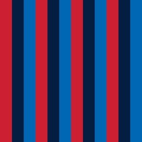 rugby stripes sm red navy and royal blue vertical || independence day USA american fourth of july 4th