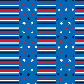 stars and stripes med red white navy on royal blue || independence day USA american fourth of july 4th