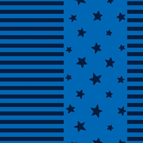 stars and stripes lg navy on royal blue || independence day USA american fourth of july 4th