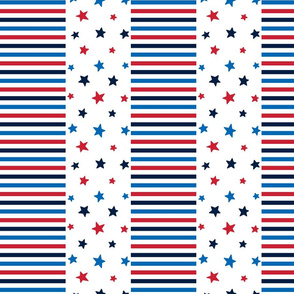 stars and stripes med red white royal and navy blue || independence day USA american fourth of july 4th