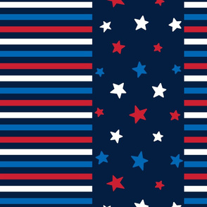 stars and stripes lg red white and royal on navy blue || independence day USA american fourth of july 4th