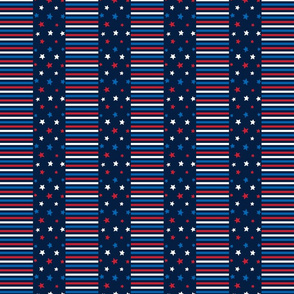 stars and stripes sm red white and royal on navy blue || independence day USA american fourth of july 4th
