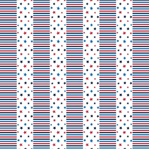 stars and stripes sm red white royal and navy blue || independence day USA american fourth of july 4th
