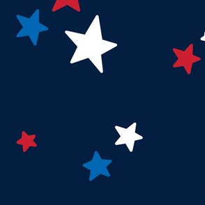 stars lg red white and royal on navy blue || independence day USA american fourth of july 4th