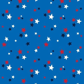 stars sm red white navy on royal blue || independence day USA american fourth of july 4th