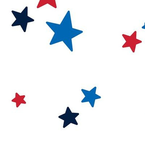 stars lg red white royal and navy blue || independence day USA american fourth of july 4th