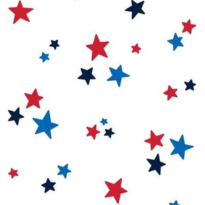 stars med red white royal and navy blue || independence day USA american fourth of july 4th