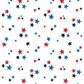 stars sm red white royal and navy blue || independence day USA american fourth of july 4th