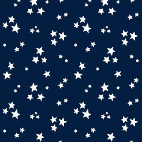 stars sm white on navy blue || independence day USA american fourth of july 4th