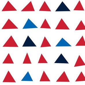 triangles red white royal and navy blue || independence day USA american fourth of july 4th
