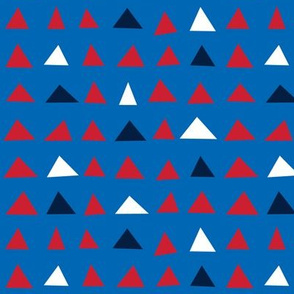 triangles sm red white navy on royal blue || independence day USA american fourth of july 4th