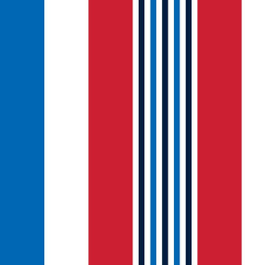 turkish stripes red white royal and navy blue vertical || independence day USA american fourth of july 4th