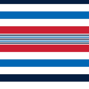 turkish stripes sm red white royal and navy blue || independence day USA american fourth of july 4th