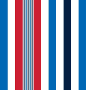 turkish stripes sm red white royal and navy blue vertical || independence day USA american fourth of july 4th