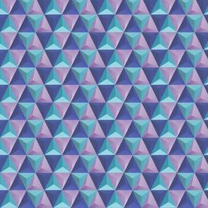 Pyramids Tile - Blue Purple
