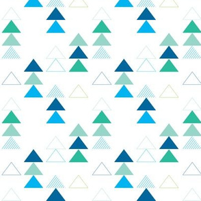 Geometric Triangles in Blue and Green