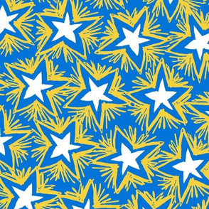 Bright Stars GOLD BLUE ©Julee Wood
