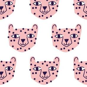 Cheetah Pink on White